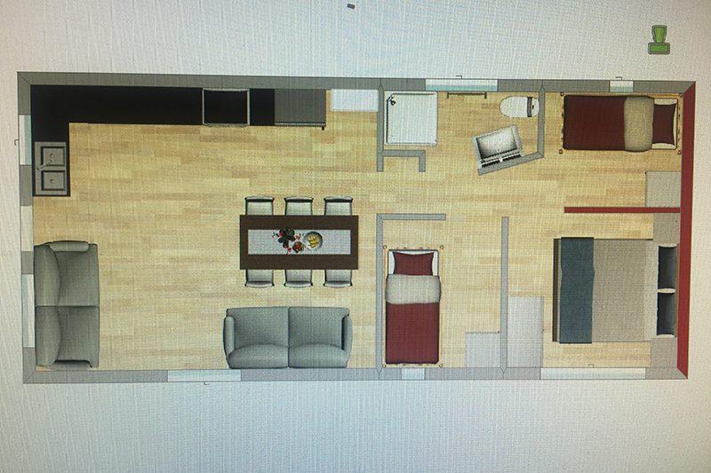 3 bedroom cabin layout